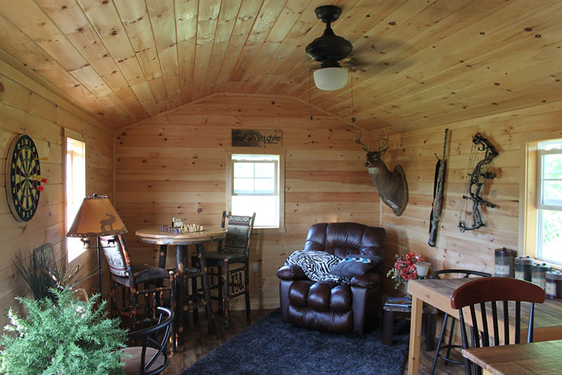 Cabin shed man cave 2