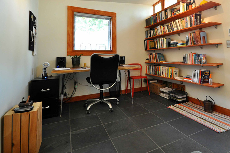 Shed turned into office