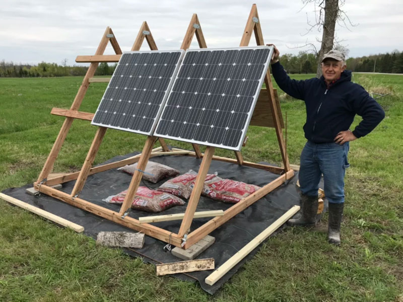 Solar stand for off grid