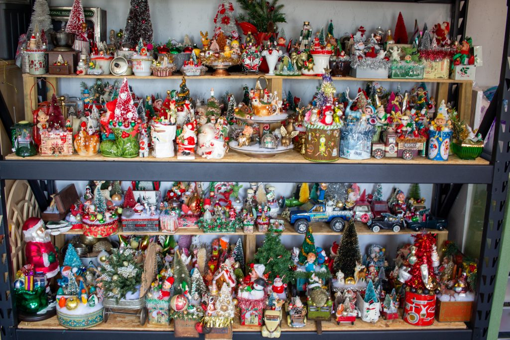 christmas decorations made in a craft shed in minnesota