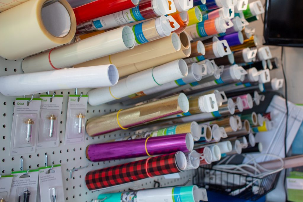 craft supplies in craft hobby shed in upper midwest