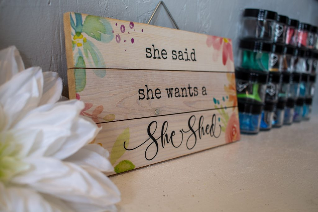 craft themed she shed in georgetown minnesota