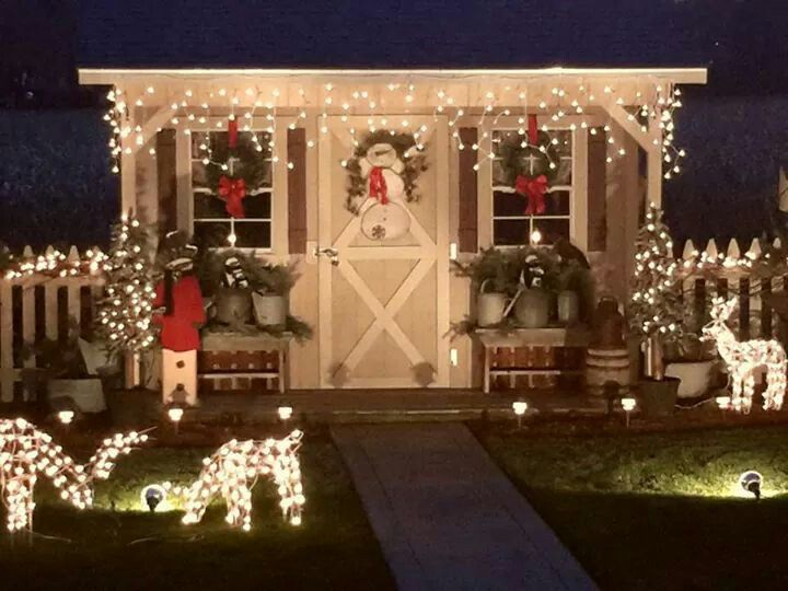 decorating a shed for christmas winterize a shed