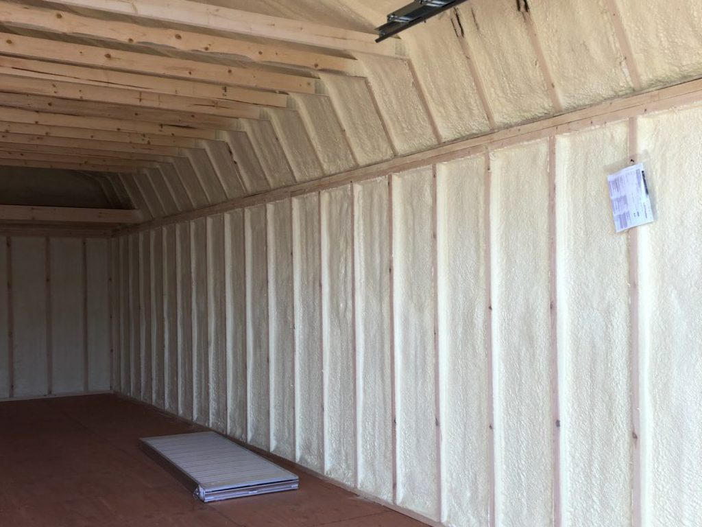 insulated home office shed in iowa