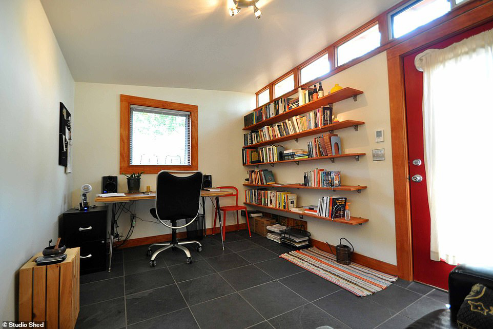 office shed interior for northern midwest
