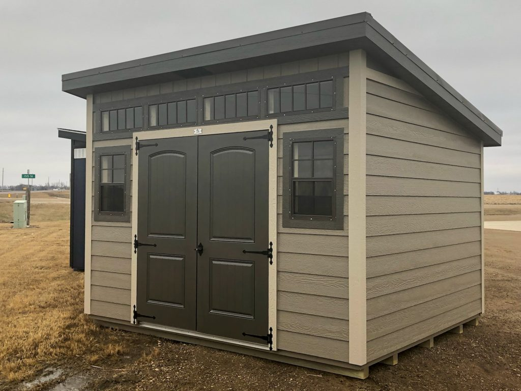 studio shed used as an office in north dakota