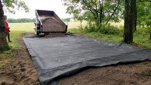 4 inch stone base for portable cabin minnesota