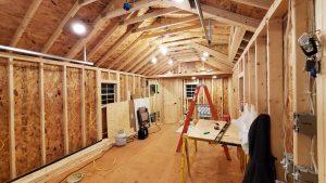 Solar lighting in portable cabin in minnesota