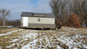 portable cabin shed mule placement minnesota
