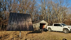 solar panels ready for off grid cabin minnesota