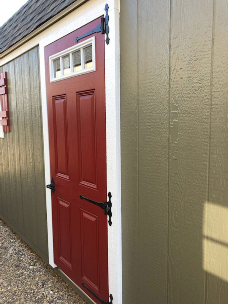 4 lite single fiberglass door