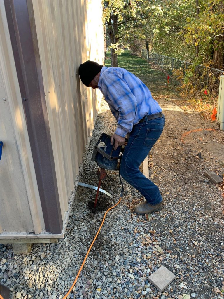 installing shed anchor 3