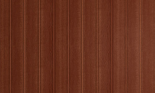 Wood panel siding for prefab garages