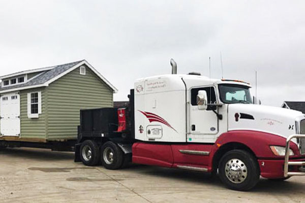 Storage building delivery