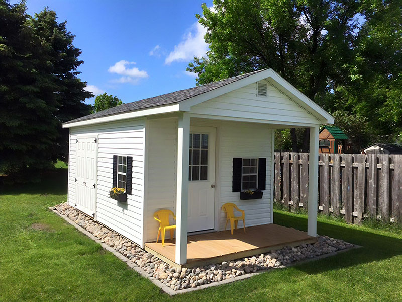 Cabin shed with porch for sale