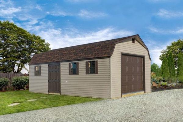 High barn garage shed
