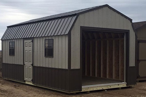 High barn metal shed for garage shed