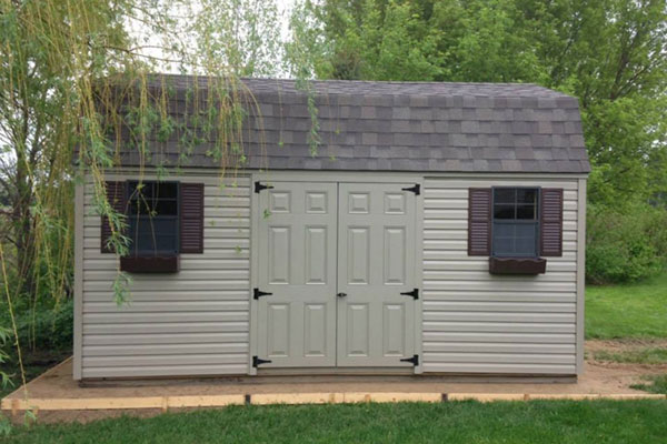 High barn sheds for garden tool shed