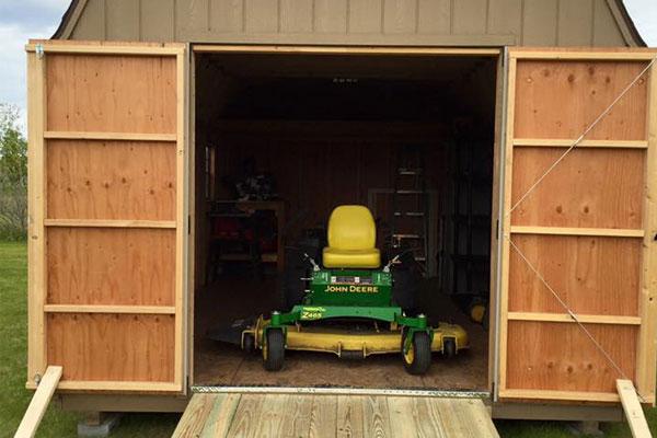 Custom garden tool sheds