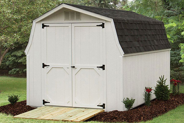 Low barns garden tool storage shed
