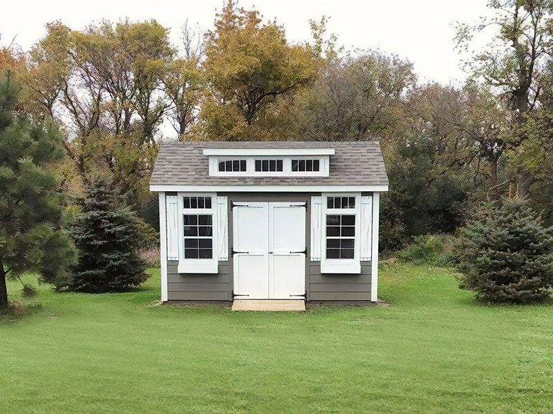 Classic shed with wood lap siding