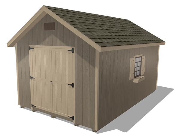 Classic sheds wood panel siding