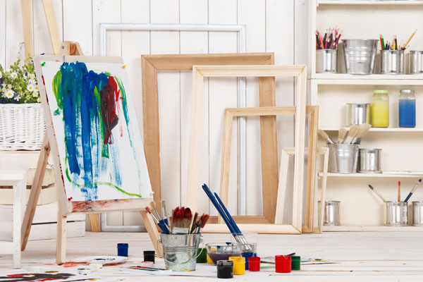 Home art studio in classic sheds