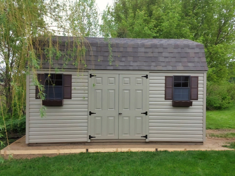 High barn vinyl shed