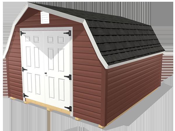 Low barn shed wood lap siding