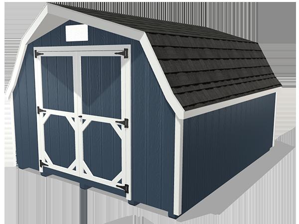 Low barn shed wood panel siding