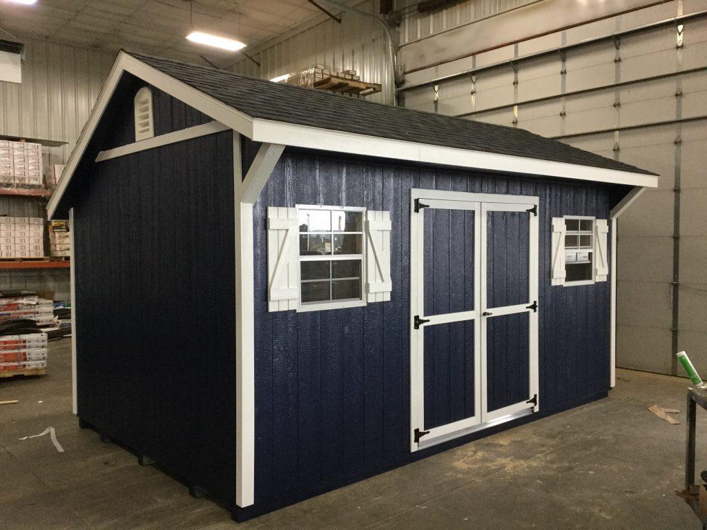 Backyard quaker garden shed