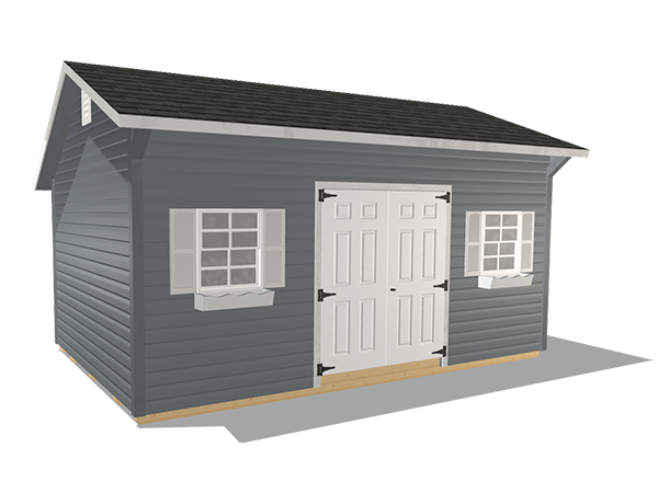 Saltbox sheds vinyl siding