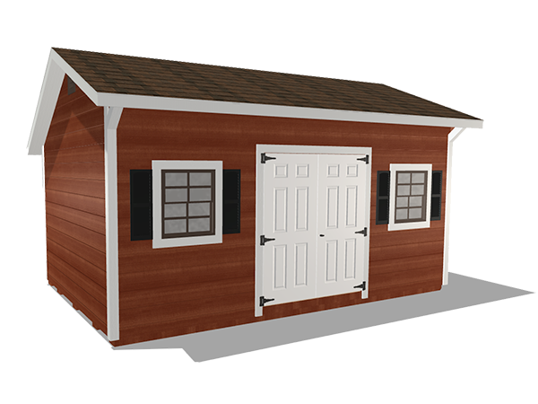 Saltbox sheds wood lap siding