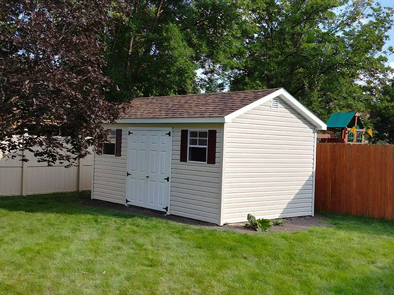Outdoor storage sheds for sale by shed builder