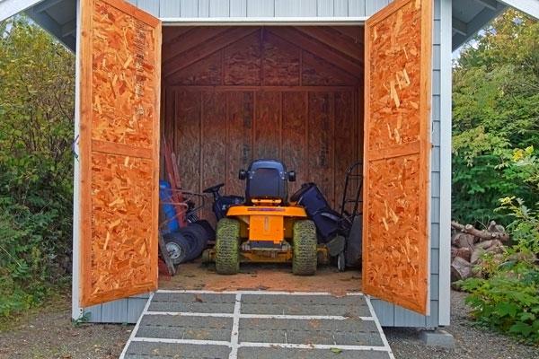Garden storage with outdoor storage shed