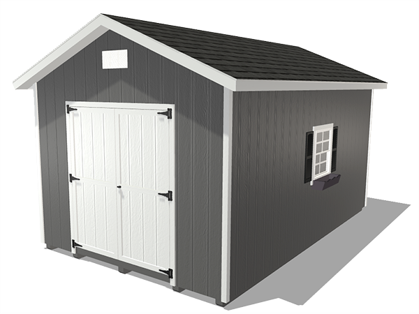 Ranch gable outdoor storage sheds wood panel