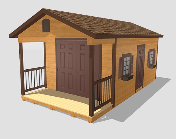 Custom storage shed for sale