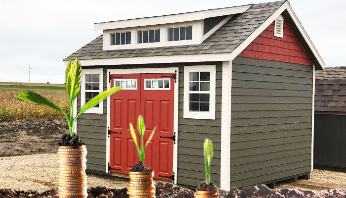 Storage sheds financing rate