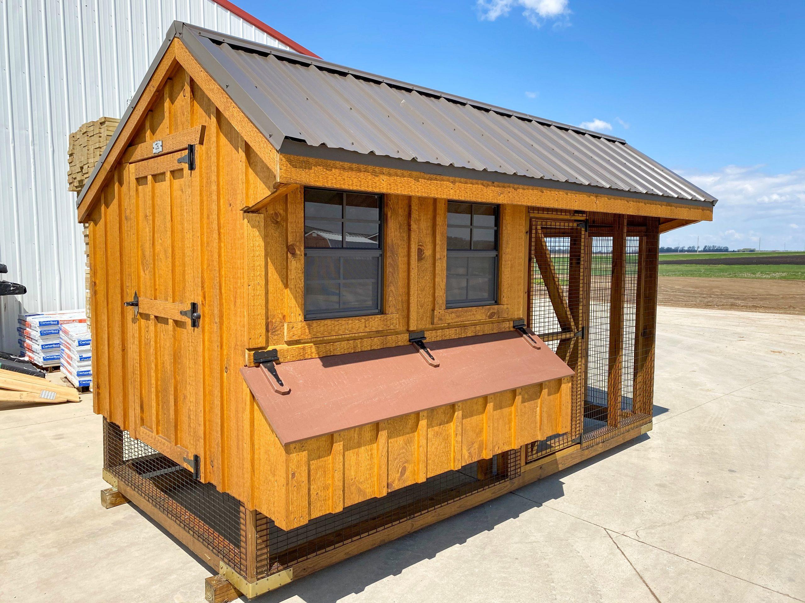 cedar chicken coop with run for sale in grand forks north dakota